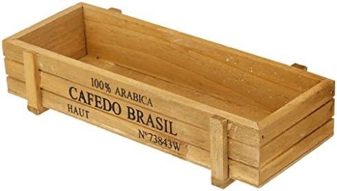 fendii rectangular Escritorio de madera caja de almacenamiento ...