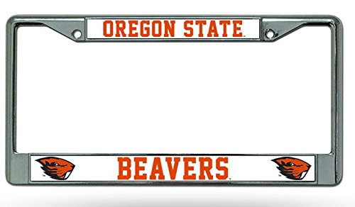 NCAA Oregon State Beavers Chrome Plate Frame (Oregon State Logo Plate)