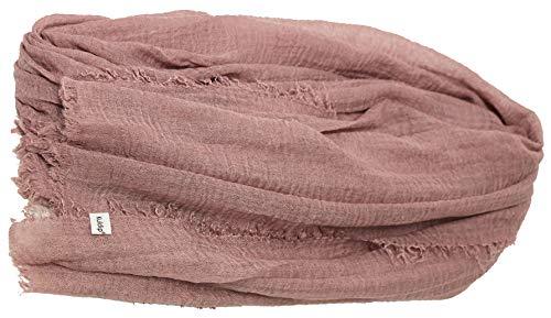 Kuldip Crinkle Style Pashmina Scarf Shawl Stole Wrap. Antique Pink