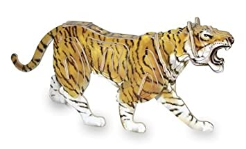 3d Madera Tiger Puzzle Amazon Es Juguetes Y Juegos