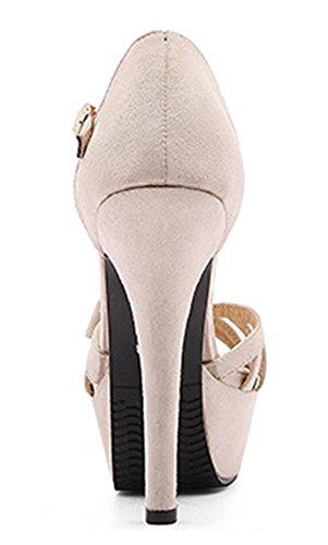 Beige Heels Aushöhlen Toe Aisun Sexy Sandalen Stiletto Hohe Frauen Peep zqTF17