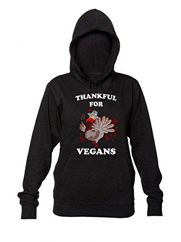 Hooded Donna Women's Cool Thankful Sweatshirt con Felpa Turkey Cappuccio da Beautiful For Vegans HqxvP