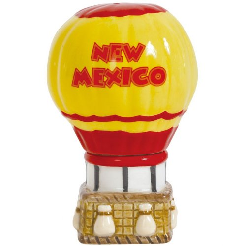 New Mexico Balloon - Westland Giftware Magnetic Ceramic Salt and Pepper Shaker Set, Mwah New Mexico, 4-Inch, Set of 2