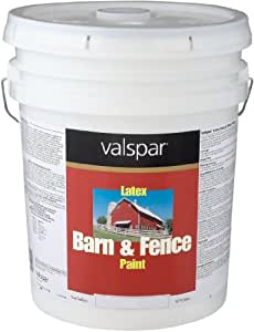 Valspar 3125-10 Barn and Fence Latex Paint, 5-Gallon, Red ...