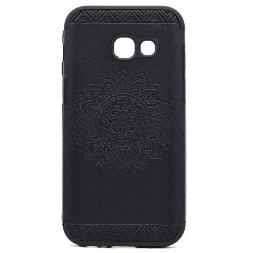 inShang Funda para Samsung Galaxy A3(2017) suave TPU Carcasa Cajas Soporte Skin case cover Para Galaxy A3(2017) Black printing