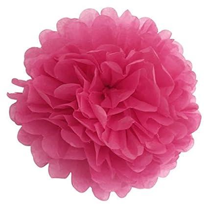 lzndeal 10/pcs Tessuto Carta Pompon Poms palla sospesa ghirlanda di Matrimonio Decorazione Forniture bianco