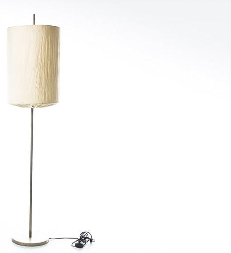 Lámpara de pie con tulipa Designer Host ivesid fabricante o luz Made in Italy años 60 color gris de metal y tela: Amazon.es: Iluminación