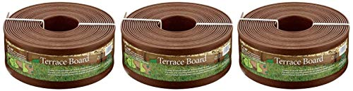 Master Mark Plastics 95340 Terrace Board Landscape Edging Coil, 5-inch x 40-Foot, Brown (Pack of 3) (Square Rubber Patio Stone)