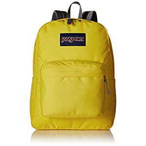 JanSport Unisex SuperBreak Yellow Card Backpack