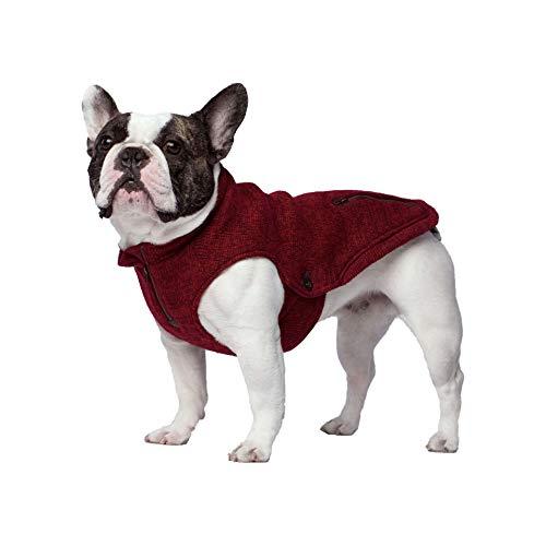 Canada Pooch Northern Knit Half-Zip Pullover Sweater - Maroon - 14 ()