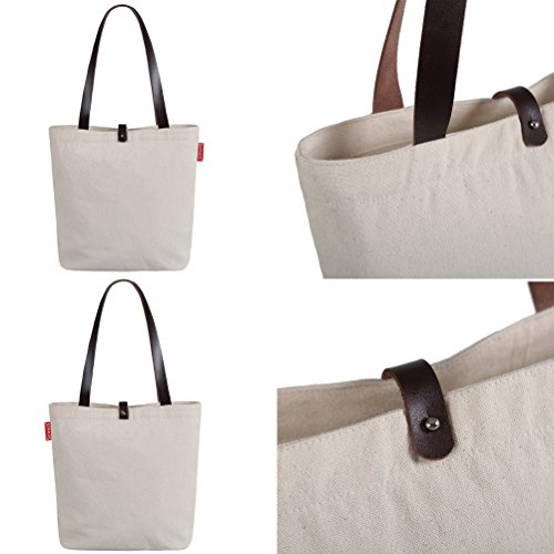 So'each Bolsa de tela y de playa, color natural (beige) - HBD-UK-20-BG color natural