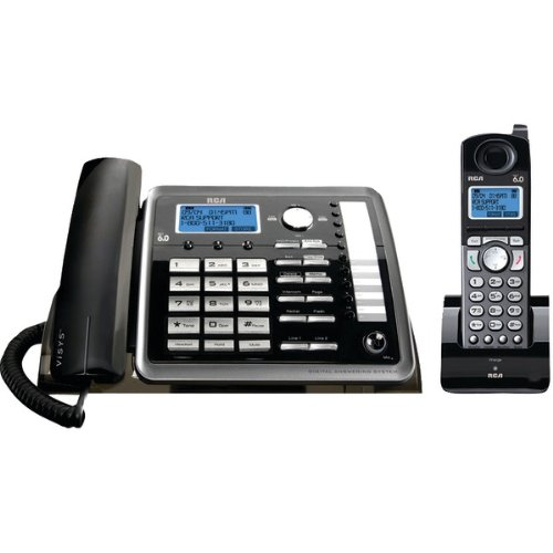 WonderCase Rca 25255Re2 2-Line Corded/Cordless Expandable Phone With Caller Id & Answerer