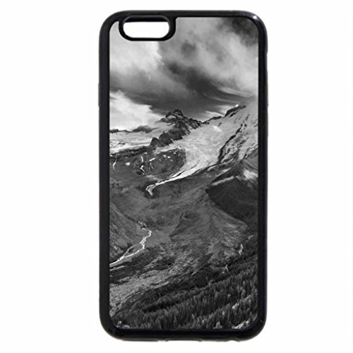 iPhone 6S / iPhone 6 Case (Black) Black and White Mountain