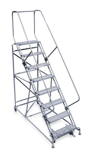 UPC 094713351009, Cotterman - 2609R2632A6E12B4W5C1P6 - 9-Step Rolling Ladder, Perforated Step Tread, 120 Overall Height, 800 lb. Load Capacity