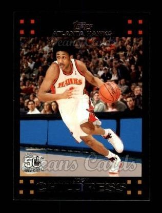 2007 Topps # 66 Josh Childress Atlanta Hawks (Basketball Card) Dean's Cards 8 - NM/MT (Josh Childress Atlanta Hawks)