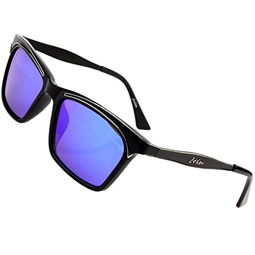 Sumery Women Vintage Retro Wayfarer Sunglasses UV400 4PCS (Black, - Wayfarer Paul Sunglasses Smith