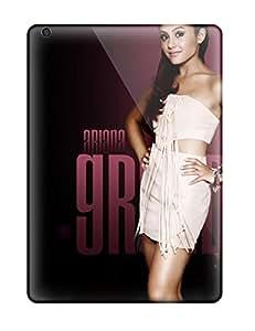 Ipad Air Hard Back With Bumper Silicone Gel Tpu Case Cover Ariana Grande