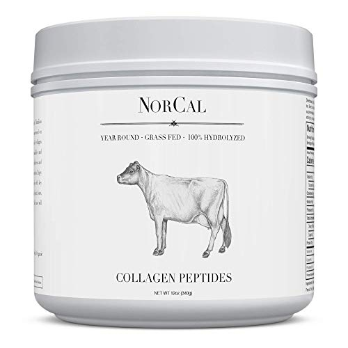 Norcal Organics Grass-Fed Collagen Peptide Hydrolysate Powder, 12oz | 20g Protein | Hydrolyzed Keto Supplements Protein Production for Strong Healthy Bones, Joints, Cartilage & Tendons