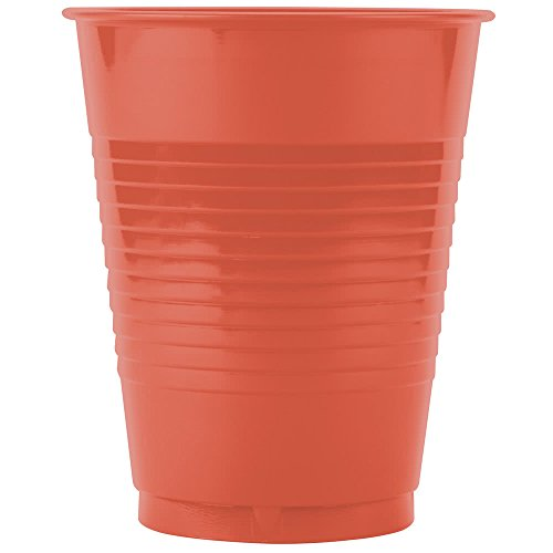 28312181 16 oz. Brick Red Plastic Cup - 240/Case By TableTop King