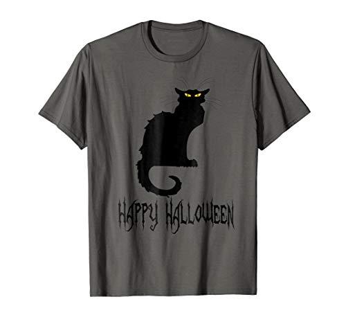 Black Cat Halloween T-Shirt, Costume Idea, Party, Plus -