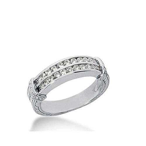 14k Gold Diamond Anniversary Wedding Ring 22 Round Brilliant Diamonds 0.66ctw 363WR152314K - Size 10
