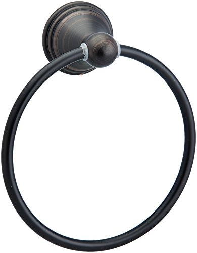 AmazonBasics Modern Bathroom Hand Towel Ring, Oil-Rubbed Bronze