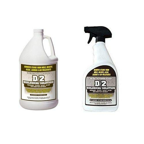 32 Ounce Quart Bottle - D2 Biological Solution 1 Gallon / (1) 32 oz Quart Spray Bottle Combo Pack