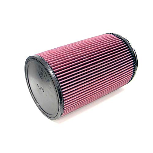 K&N RU-3050 Universal Clamp-On Air Filter: Round Tapered; 6 in (152 mm) Flange ID; 8 in (203 mm) Height; 7.5 in (191 mm) Base; 5 in (127 mm) Top