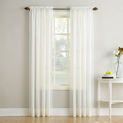 Crushed Voile - No. 918 Erica Crushed Texture Sheer Voile Curtain Panel, 51
