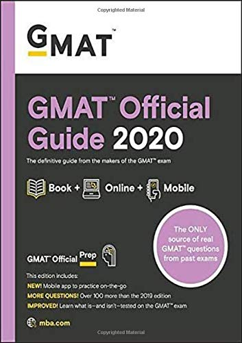 GMAT Official Guide 2020: Book + Online Question Bank
