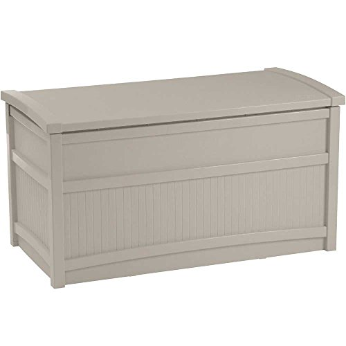 Deck Box, Resin, 41w x 21d x 22h, 50-gallon, Taupe by Suncast