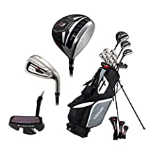 Whether you're a beginner, an avid golfer, or if you can only get out to the course a few times per year, the Precise M5 men's club set is the perfect choice. This set comes with all-graphite shafts, which are about 40% lighter than steel sha...