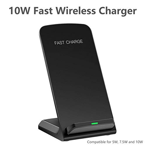 Dkaile Fast Wireless Charger Stand, 7.5W for Qi Compatible iPhone X, iPhone 8/8 Plus,10W for Samsung Galaxy S9/S9+/S8/S8+/S7/Note 8, and More (No AC Adapter)