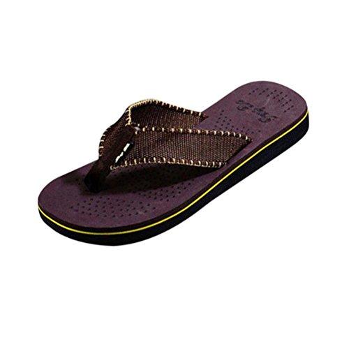Chanclas Sandalias Zapatillas, FAMILIZO Zapatos Los hombres de verano flip flops zapatos sandalias Zapatillas masculinas Flip-flop Marrón