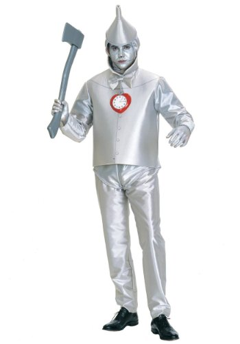 Wizard Of Oz Scarecrow Costume Accessories (Rubie's Costume Co Men's Wizard Of Oz Tin Man Costume, Silver Metallic, Plus)