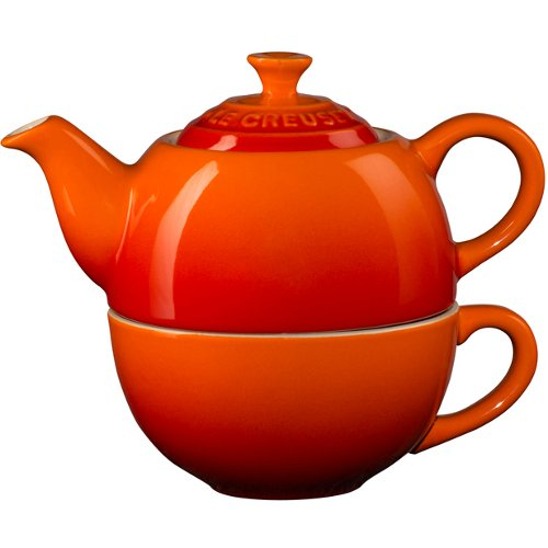 Le Creuset Flame Stoneware Tea for One