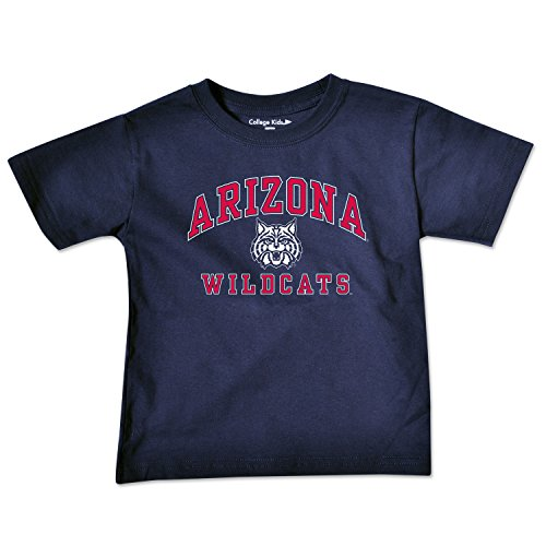 (College Kids NCAA Arizona Wildcats Toddler Short Sleeve Tee, 4 Toddler, Navy )