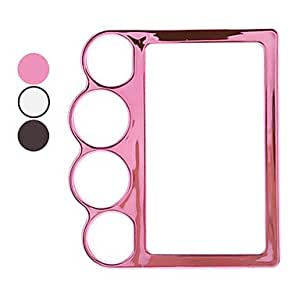 Finger Hole Designed Electroplated PC Hard Case for LG E400 Optimus L3 (Assorted Colors) --- COLOR:Black