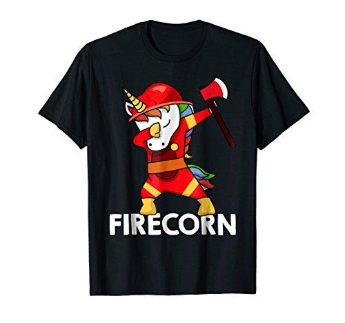 - Firefighter Dabbing Unicorn T-shirt Funny Firecorn Dab