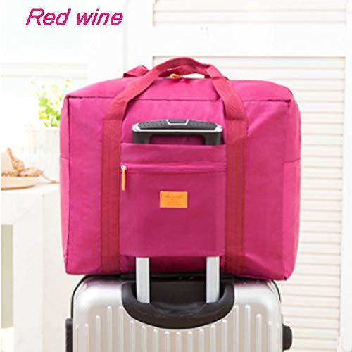 Nylon Bag Wine Red Waterproof Travelling Travel Portable Kiicn Housekeeping Package 5vXp4nq