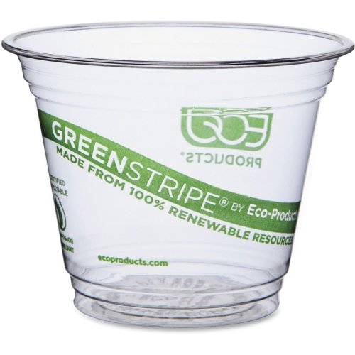 ECOEPCC9SGS - GreenStripe Renewable amp; Compostable Cold Cups - 9oz.