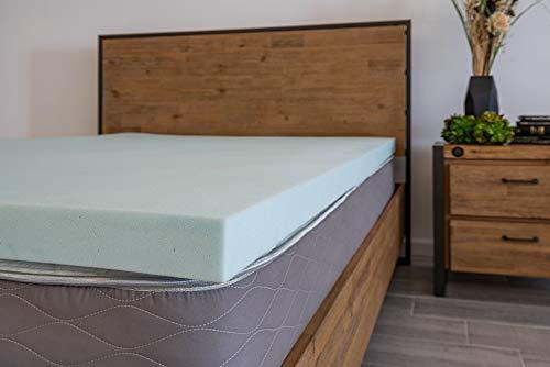 DreamFoam Bedding BB3GT33 Gel Infused Slow Response Memory Foam Mattress Topper, Twin, Blue