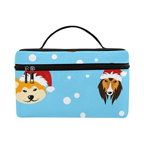 - Cartoon Hat Dog Large Capacity Size Lady Cosmetic Bag Makeup Organizer Lunch Box Tote Holder Case Cooler For Girl Women Travel Picnic