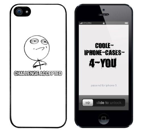 Iphone 5 Case Challenge Accepted Rahmen schwarz