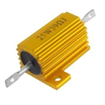 eDealMax tono Oro Carcasa de aluminio 25W 5% 39 Ohm ...