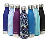 MIRA Vacuum Insulated Travel Water Bottle | Leak-Proof Double Walled Stainless Steel Cola Shape Portable Water Bottle | No Sweating, Keeps Your Drink Hot & Cold | 17 Oz (500 ml) | Swirl
