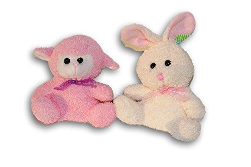 Springtime Soft Plush Animal Set Set - Bunny and Lamb