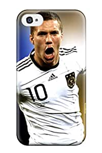Top Quality Rugged Lukas Podolski Germany Case Cover For Iphone 4/4s