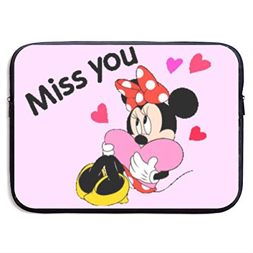 (Laptop Sleeve Bag Miss You Minnie Mouse Print Neoprene Notebook Carrying Case Handbag for 13