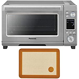 Panasonic Compact 1750 Watt High Speed Convection Toaster Oven Bundle with Mrs. Anderson's Baking Silicone Toaster Oven Mat (2 Items)